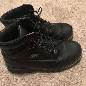 Lugz men's mortal steel toe work boot black 10